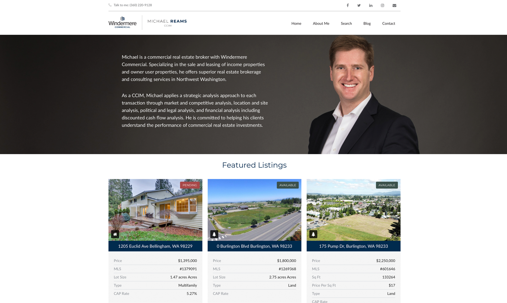 Michael Reams Real Estate Website Design & Development