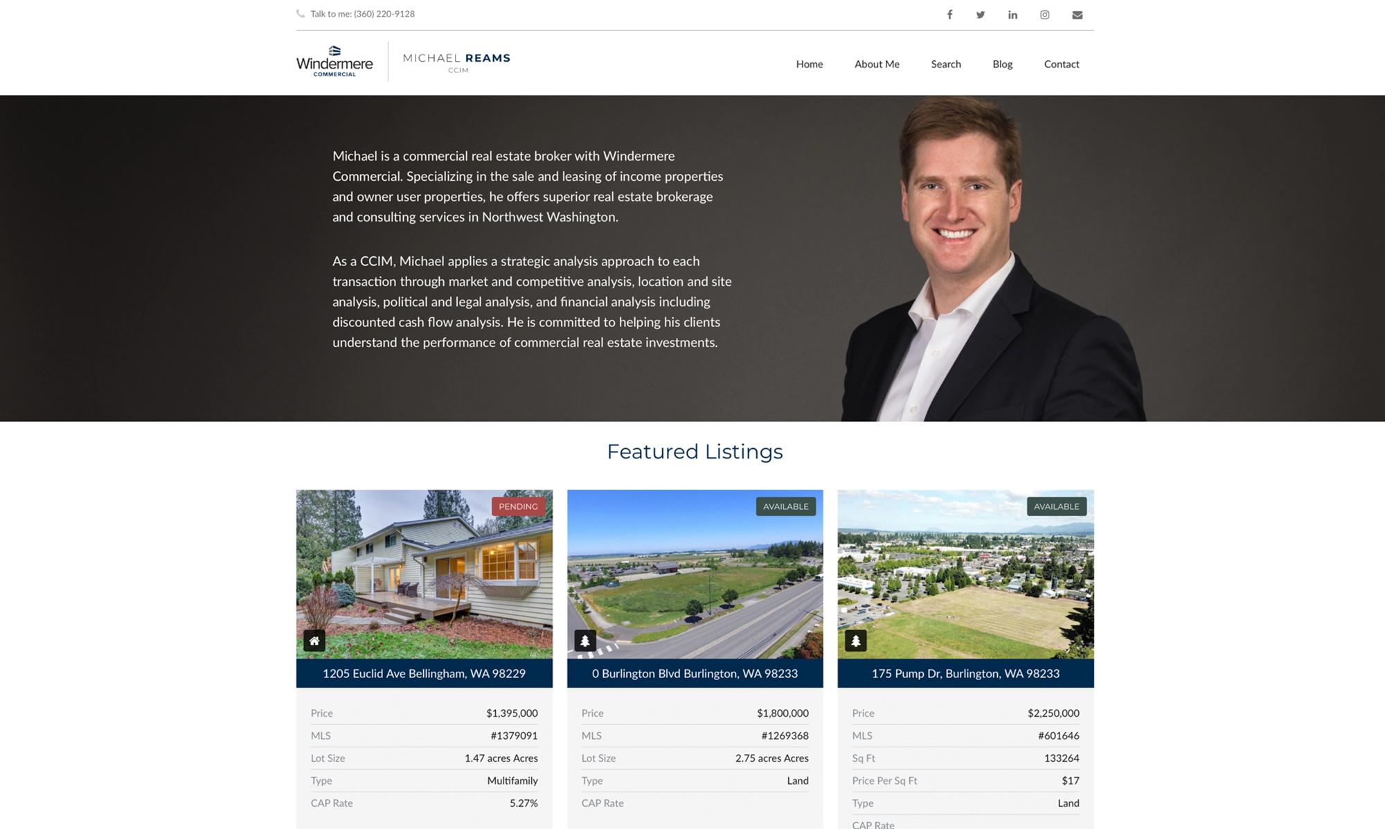 Michael Reams Real Estate Website Design & Development